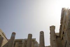 帕台农神庙的细节,雅典,希腊 免版税库存图片