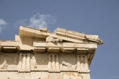 帕台农神庙的细节,雅典,希腊 库存图片