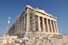 帕台农神庙重建 库存图片