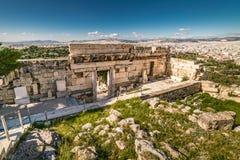帕台农神庙雅典卫城考古学Pl大门  免版税库存图片