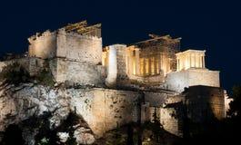 帕台农神庙,上城小山,雅典 免版税库存照片