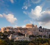 帕台农神庙,亚典人上城,雅典,希腊 库存照片