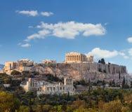 帕台农神庙, Akropolis -雅典,希腊 库存图片