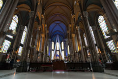 帕多瓦教会,伊斯坦布尔,土耳其圣安东尼内部  免版税库存照片