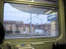 帕多瓦火车站,看从火车意大利欧洲 图库摄影