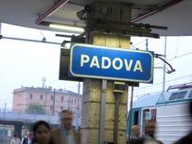 帕多瓦火车站,看从火车意大利欧洲 免版税库存图片
