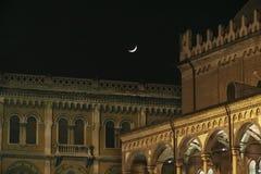 帕多瓦的历史的中心在晚上 图库摄影
