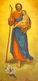 帕多瓦,意大利- 2014年9月8日:圣约瑟夫油漆Giampietro Pittarello从旁边法坛的d Monteorone (2011)在Sa教会里 库存照片