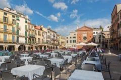 帕多瓦,意大利- 2014年9月10日:广场dei绅士正方形 免版税图库摄影
