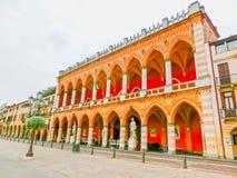 帕多瓦,意大利- 2014年9月19日:Palazzo Bo,历史大厦家 免版税库存图片