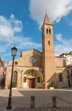 帕多瓦-圣尼古拉斯教会和正方形  免版税图库摄影
