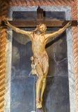 帕多瓦-在十字架上钉死雕象在教会基耶萨di圣加埃塔诺和教堂里在十字架上钉死从第17分的阿戈斯蒂诺Vannini 免版税库存图片