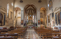 帕多瓦-教会圣弗朗切斯科del Grande教堂中殿  免版税库存图片