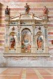 帕多瓦-有孩子的玛丹娜博尼诺da Campione (14 分 ) 在Eremitani的教会里 免版税图库摄影