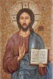 帕多瓦-耶稣基督刺绣品教会圣Benedetto vecchio的老师 库存照片
