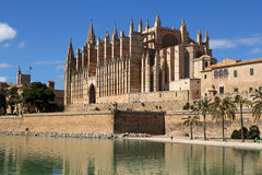 帕尔马大教堂在帕尔马,西班牙 库存图片