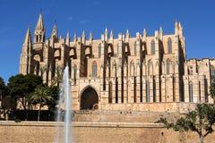 帕尔马大教堂在帕尔马,西班牙 免版税图库摄影
