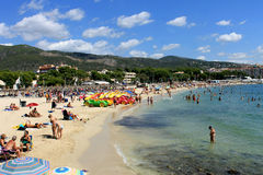 帕尔马新星海滩胜地马略卡 免版税库存图片