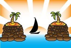 帕尔马游艇太阳 免版税库存照片