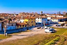 帕尔马诺瓦地平线全景镇从城市防御墙壁的 库存照片