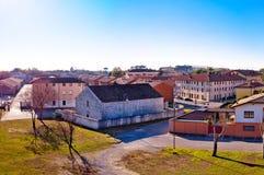 帕尔马诺瓦地平线全景镇从城市防御墙壁的 免版税库存照片