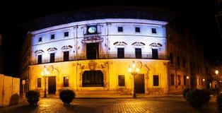 帕尔马,西班牙市政厅门面  库存图片