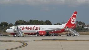 帕尔马,西班牙: 柏林航空波音737-800 库存照片