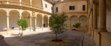 帕尔马,西班牙 哥特式大教堂圣玛丽亚和它的艺术作品的修道院 库存图片