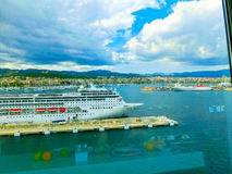 帕尔马,西班牙- 2015年9月07日:皇家加勒比,海的魅力 免版税库存图片