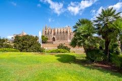 帕尔马La Seu,帕尔马,西班牙圣玛丽亚大教堂  免版税库存照片