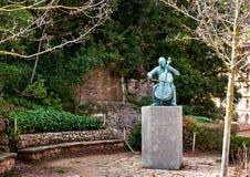 帕布罗・卡萨尔斯雕象  免版税库存图片