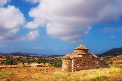 贴水帕帕佐普洛斯教会在纳克索斯岛上的 免版税库存照片