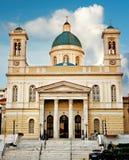 贴水帕帕佐普洛斯教会比雷埃夫斯希腊 库存图片