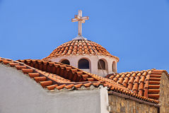贴水帕帕佐普洛斯教会 库存图片