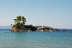 贴水帕帕佐普洛斯Ellinika,北部Evia,希腊 库存照片