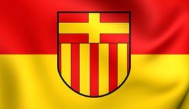 帕德博恩,德国旗子  免版税库存图片