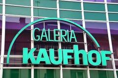 帕德博恩, northrine西华里亚,德国, 25 05 18,修造kaufhof galeria商店 库存照片