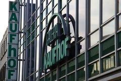 帕德博恩, northrine西华里亚,德国, 25 05 18,修造kaufhof galeria商店 免版税库存照片