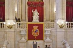 帕拉西奥真正的de马德里(王宫) 免版税库存照片