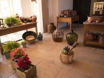 帕拉西奥da贝纳的厨房在辛特拉葡萄牙是圆顶、塔、crennelations和垒一个狂放的幻想  免版税库存照片