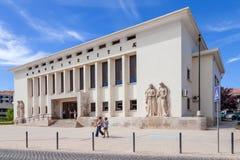 帕拉西奥da Justica (正义宫殿),市的法庭圣塔伦 免版税图库摄影