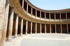 帕拉西奥de卡洛斯五世,格拉纳达 免版税库存图片