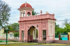 帕拉西奥de瓦尔入口在西恩富戈斯,古巴 库存照片
