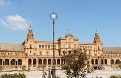 帕拉西奥Espanol在塞维利亚,西班牙 免版税库存照片