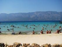 帕特拉海滩, Sedir海岛马尔马里斯港-土耳其 免版税库存图片