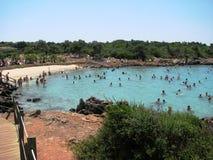 帕特拉海滩, Sedir海岛马尔马里斯港-土耳其 库存照片