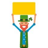 帕特里克圣徒 主要字符是一个爱尔兰假日在3月w 皇族释放例证