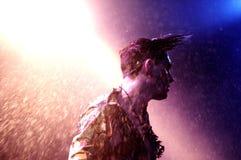 帕特里克・沃尔夫(从伦敦的歌手)在Apolo执行 库存照片