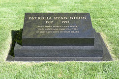 帕特・尼克松墓石 免版税库存照片