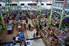 帕皮提室内市场 塔希提岛,法属玻里尼西亚 库存图片